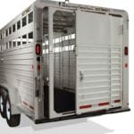 Behind shot of a Hotshot Livestock Trailer