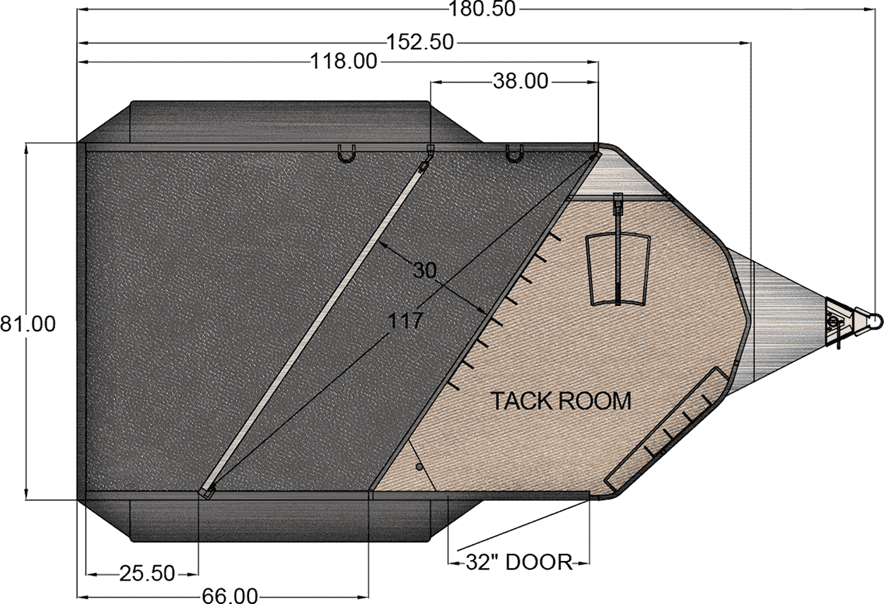 Floor Plan for 2 HORSE BUMPER PULL