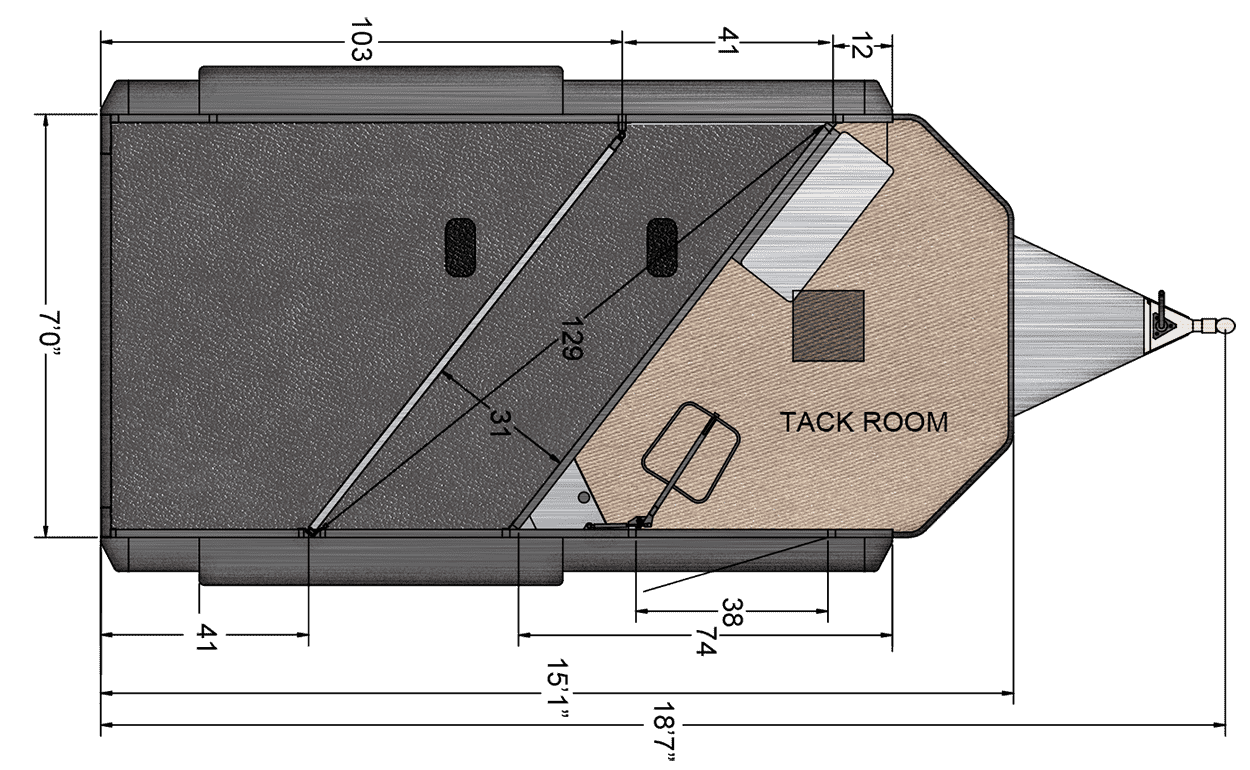 Floor Plan for 2-HORSE TRAILER