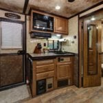 Kitchenette of a Trails West Trailer