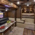 Living space of Living Quarters Trailer