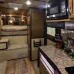 Kitchen and sleeping area