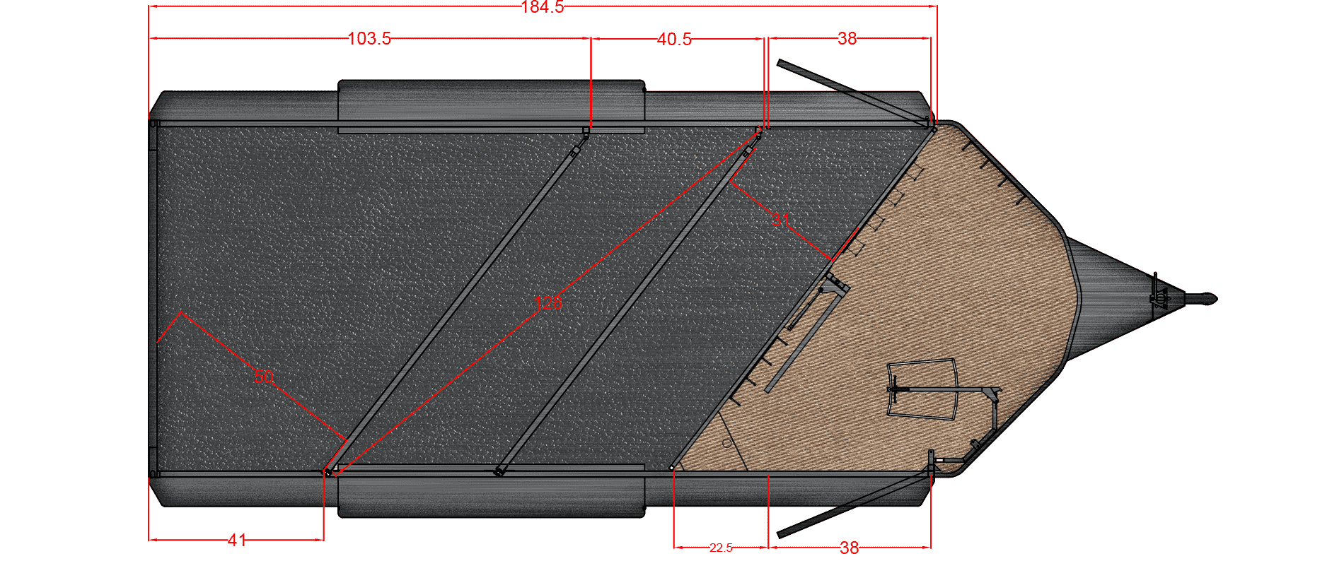 Floor Plan for 18' SLANT TACK