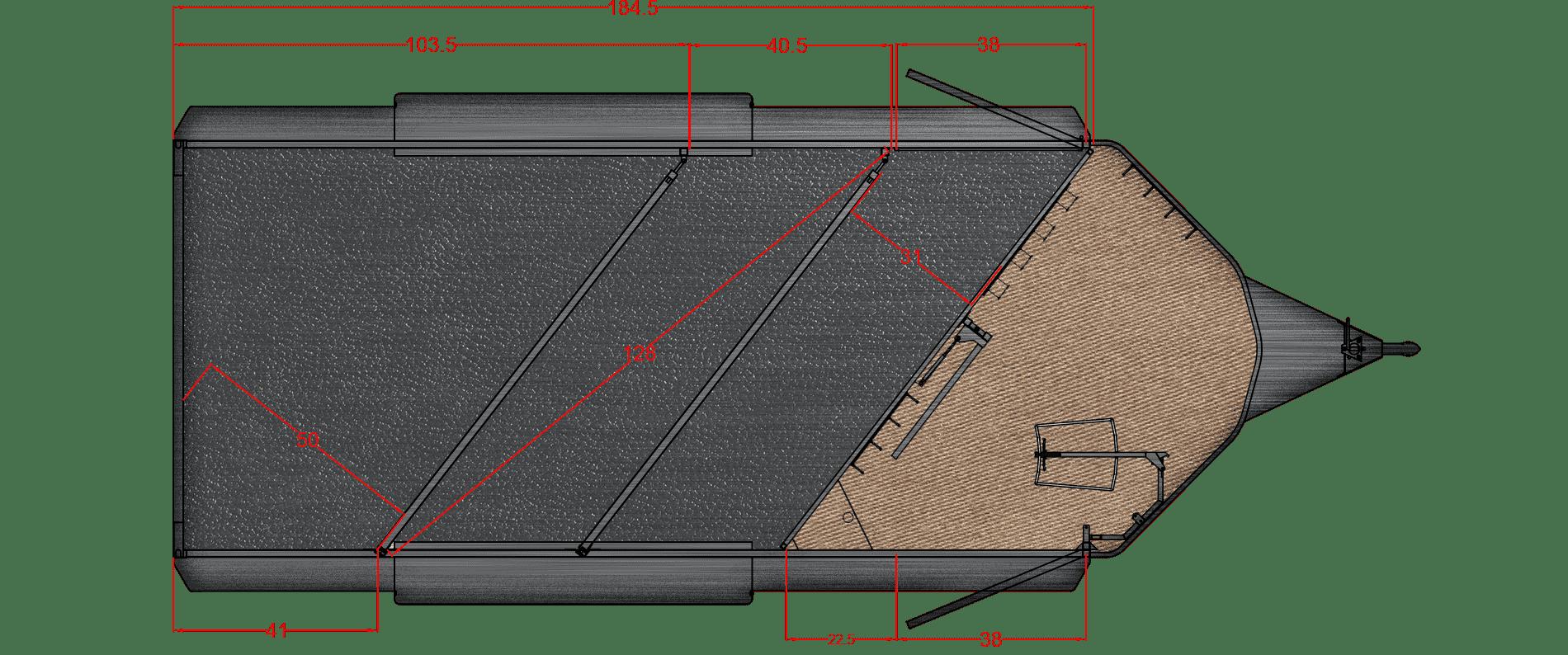 Santa Fe II 18′ – 3 Horse, 6000# axle 16″ LRE Bumper Pull