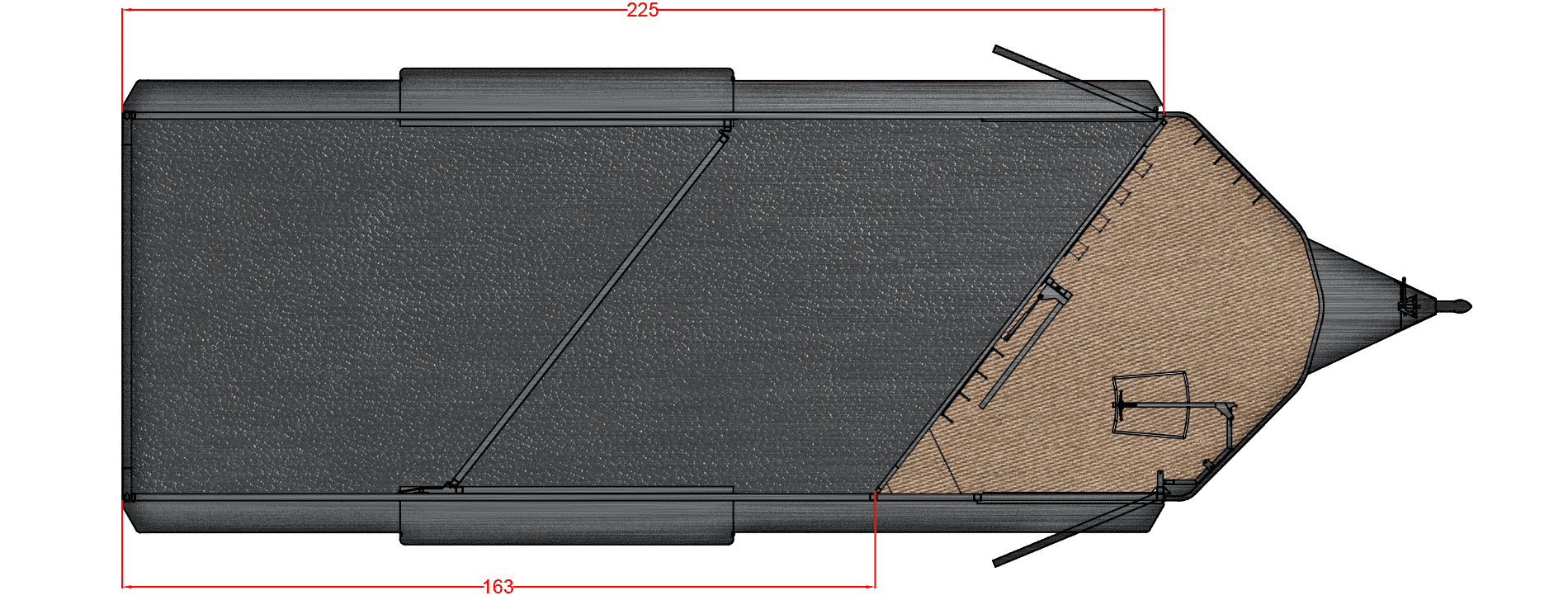 Floor Plan for 21' SLANT TACK