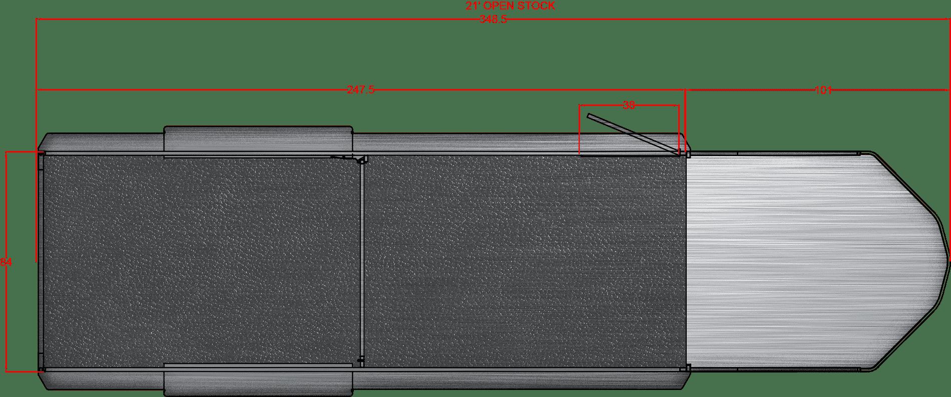 Santa Fe 21′, 7000# axles 16″ LRE Gooseneck