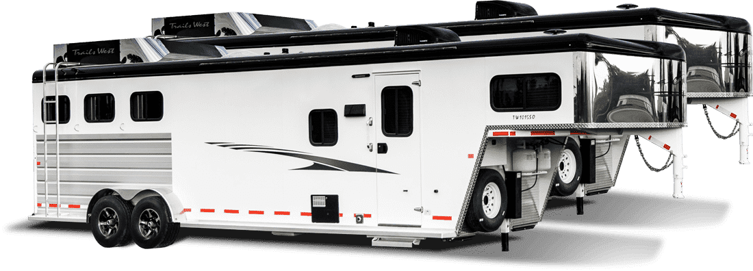 Horse trailers with living quarters from Trails West