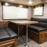 Dining Area - Western Premium Package - Living Quarters Horse Trailer