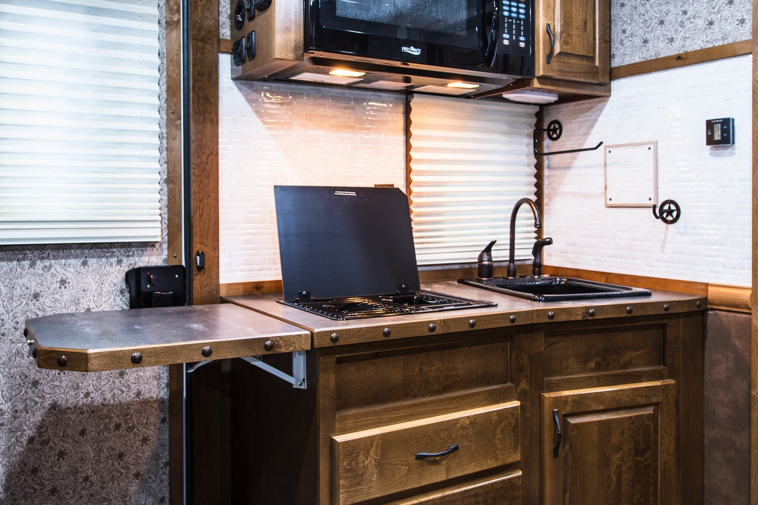 Kitchen Area - Western Premium Package - Living Quarters Horse Trailer