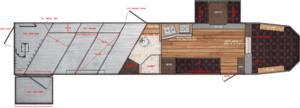Floor Plan for 15x19 Side Load With Full Rear Tack