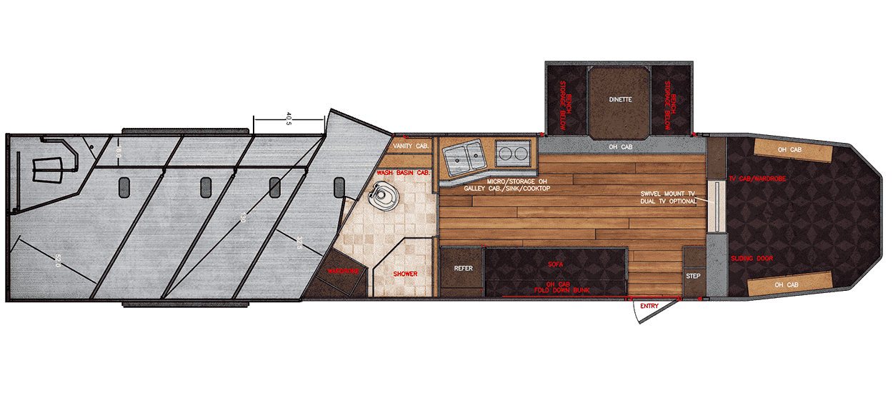 Floor Plan for 15x19 With Rear Tack