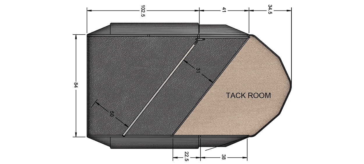 2 Horse Classic II, 3500# axles 15″ LRD Bumper Pull